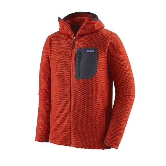 Patagonia Men's R1® Air Full-Zip Hoody : Hot Ember