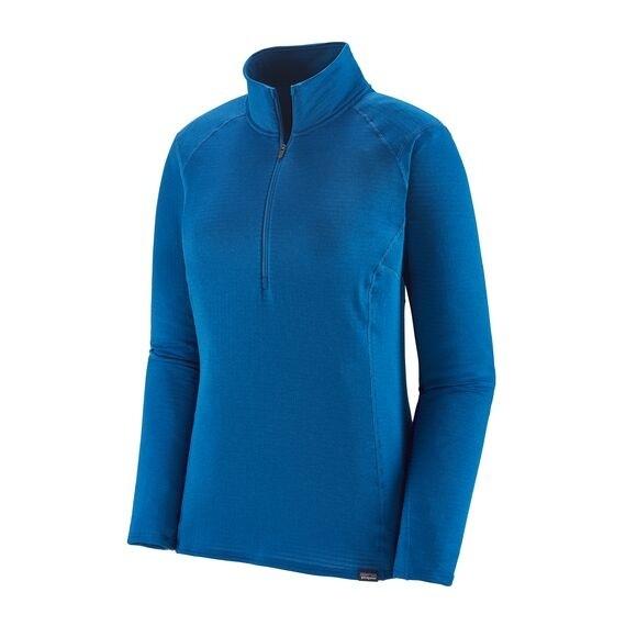 Patagonia Women's Capilene Thermal Weight Zip-Neck: Alpine Blue X-Dye
