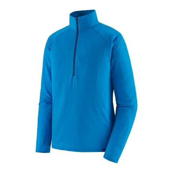 Patagonia Men's Capilene Midweight Zip-Neck : Andes Blue - Light Andes Blue X-Dye
