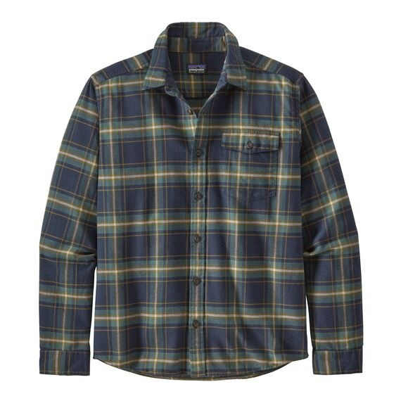 Patagonia Mens  L/W Fjord Flannel Shirt : Lawrence: New Navy