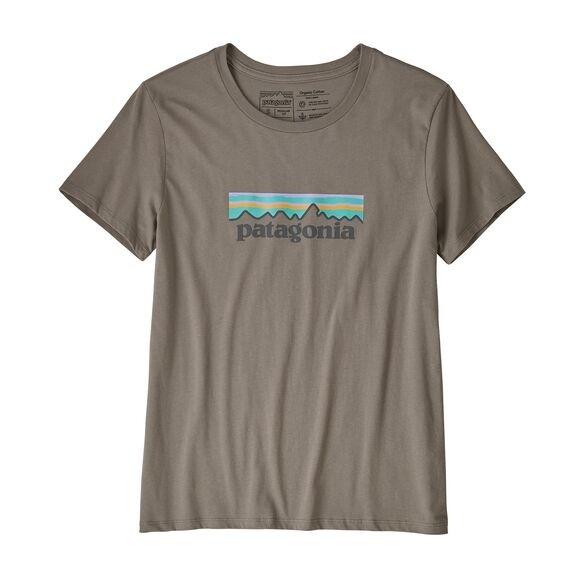 Patagonia Women's Pastel P-6 Logo Organic Cotton Crew T-Shirt : Feather Grey