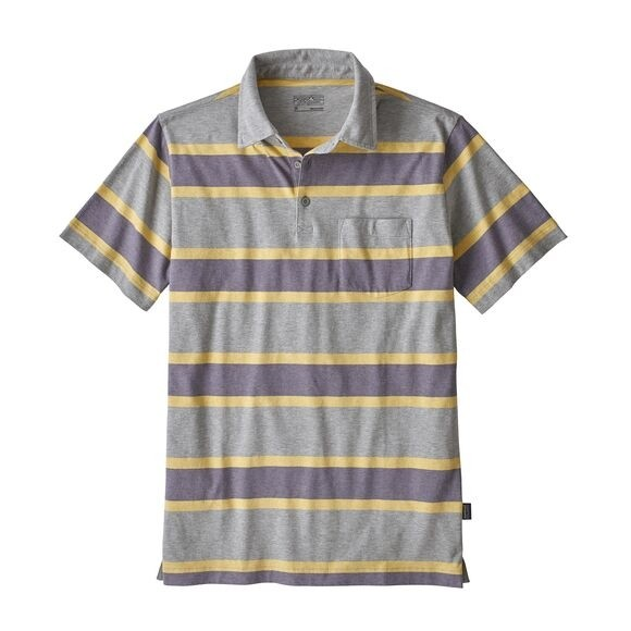 Patagonia Men's Squeaky Clean Polo : Rugby Stripe: Smokey Violet