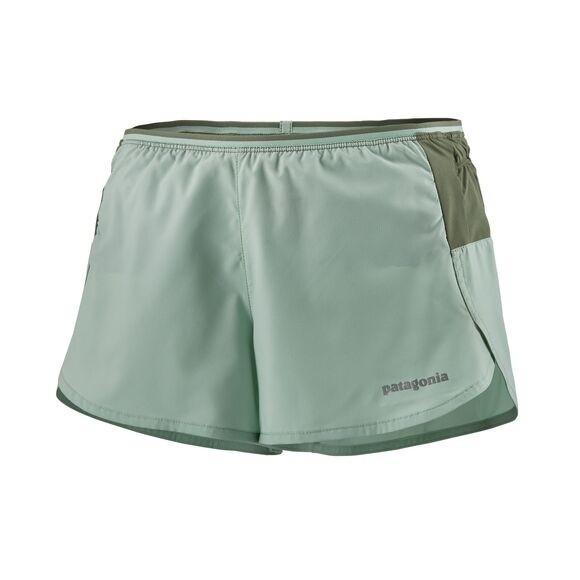 "Patagonia Women's Strider Pro Running Shorts - 3"" : Gypsum Green"