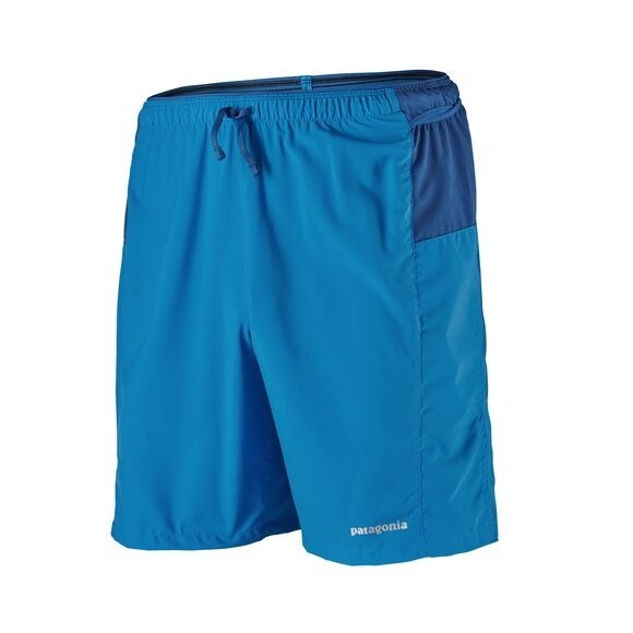"""Patagonia Men's Strider Pro Running Shorts - 7"""": Andes Blue"""