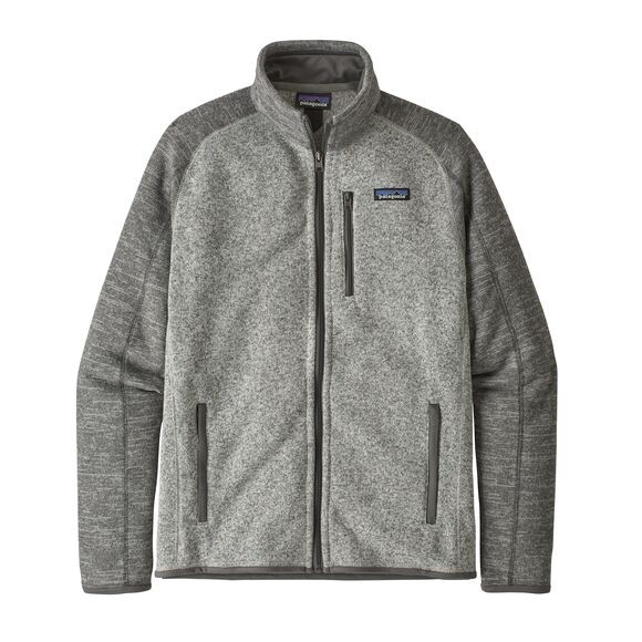 Patagonia Men's Better Sweater Fleece Jacket : Nickel w/Forge Grey