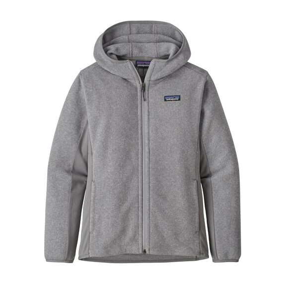 Patagonia Women's Lightweight Better Sweater Fleece Hoody : Feather Grey