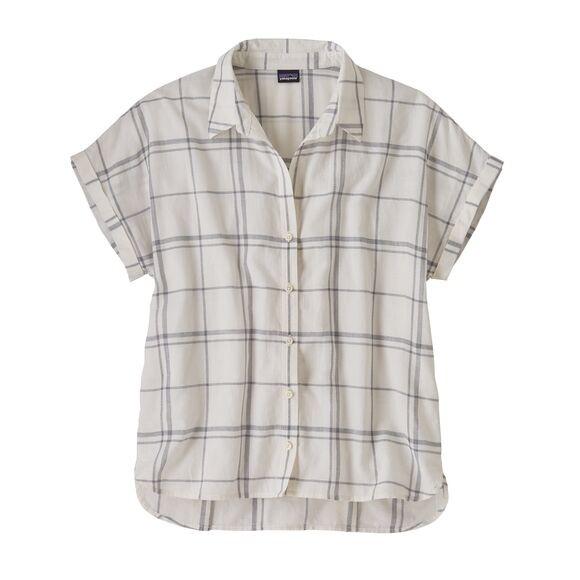 Patagonia Women's Lightweight A/C™ Shirt : Harvest Windowpane: Warm White