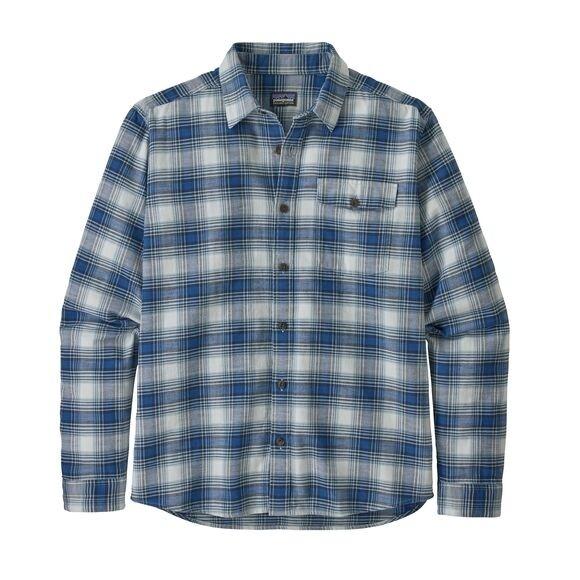 Patagonia Mens  L/W Fjord Flannel Shirt : Grange: Superior Blue