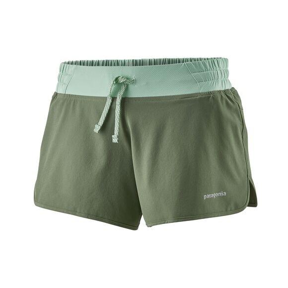 "Patagonia Womens Nine Trails Shorts - 4"" : Camp Green"