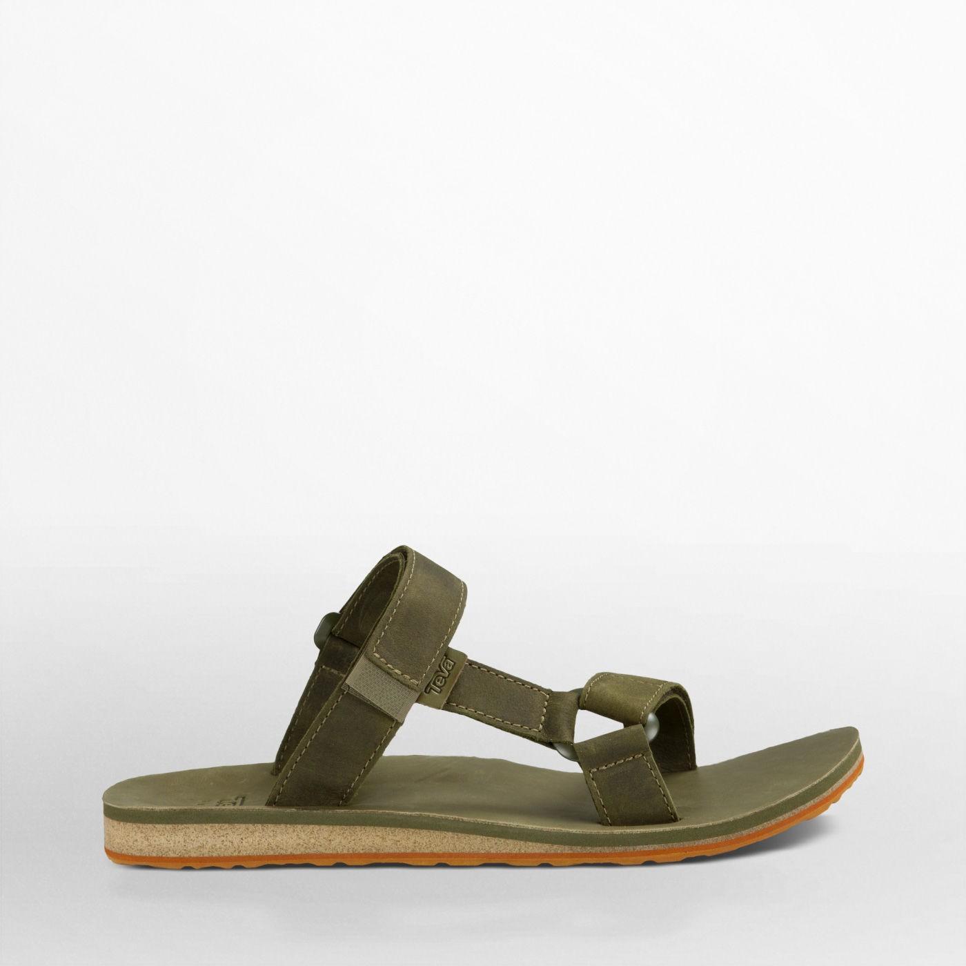 Teva Mens Universal Slide Leather : Olive