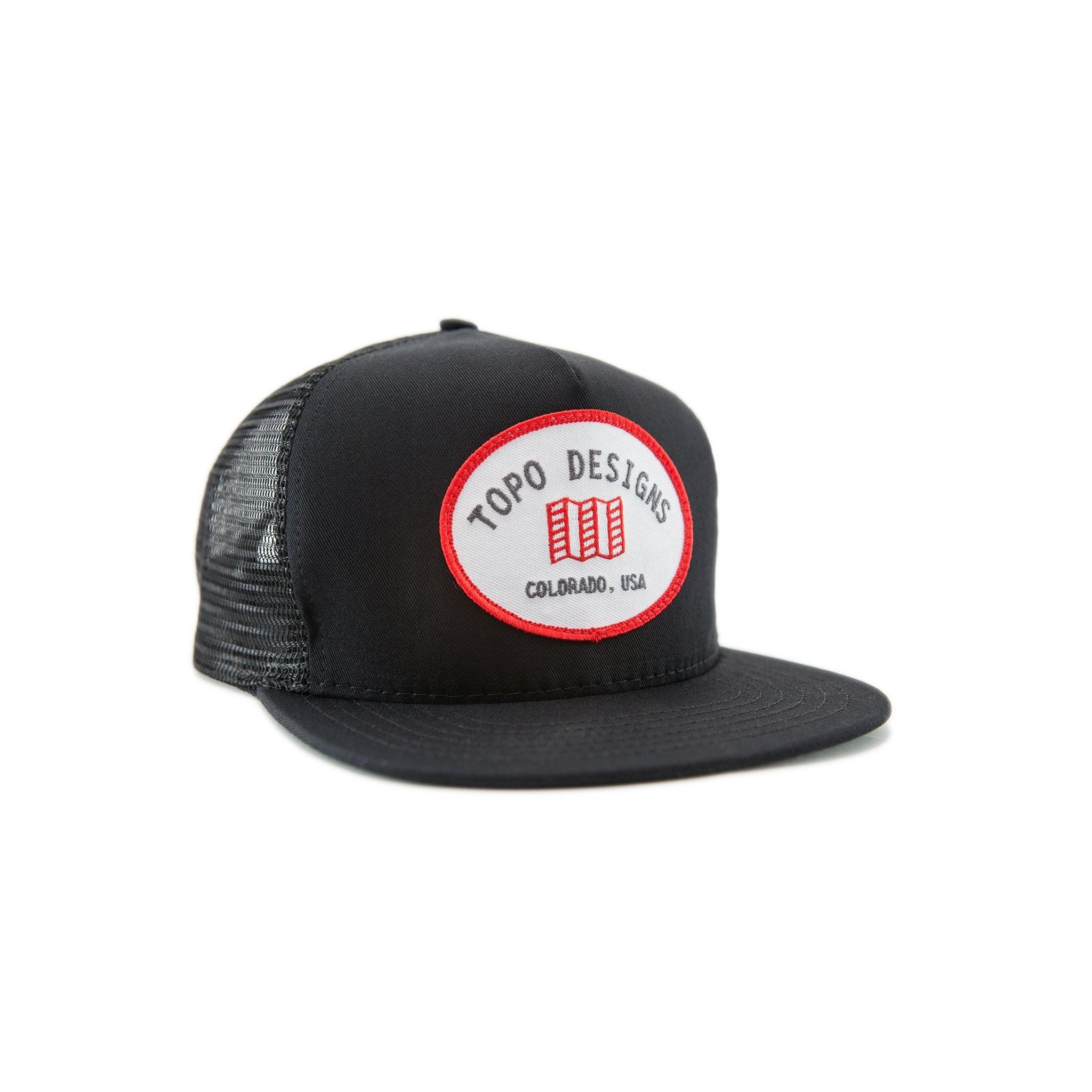 Topo Designs Snapback Hat : Black