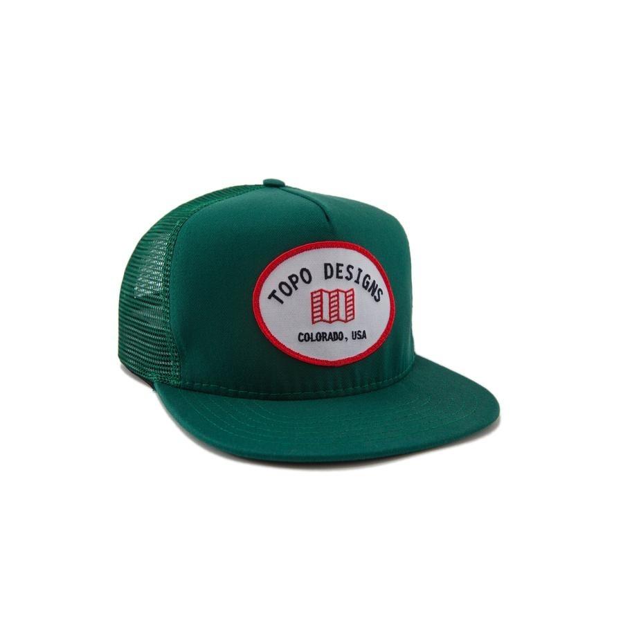 Topo Designs Snapback Hat : Green