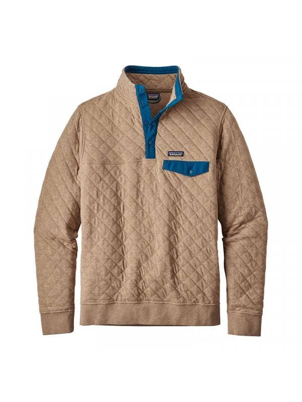 Patagonia Men S Mojave Khaki Cotton Quilt Snap T 174 Pullover